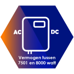 Omvormers tussen de 7501 en 8000 Watt