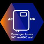 Omvormers tussen de 8001 en 8500 Watt