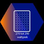 Zonnepanelen van 270 tot 290 Wattpiek