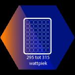 Zonnepanelen van 295 tot 315 Wattpiek